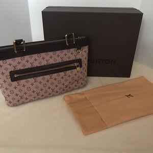 Auth Louis Vuitton Lucille Mini Lin Purse Hand Bag